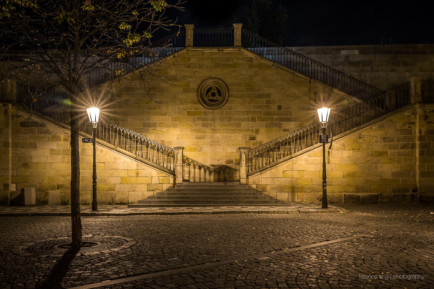 Na Kampe staircase at the Charles Bridge in Prague