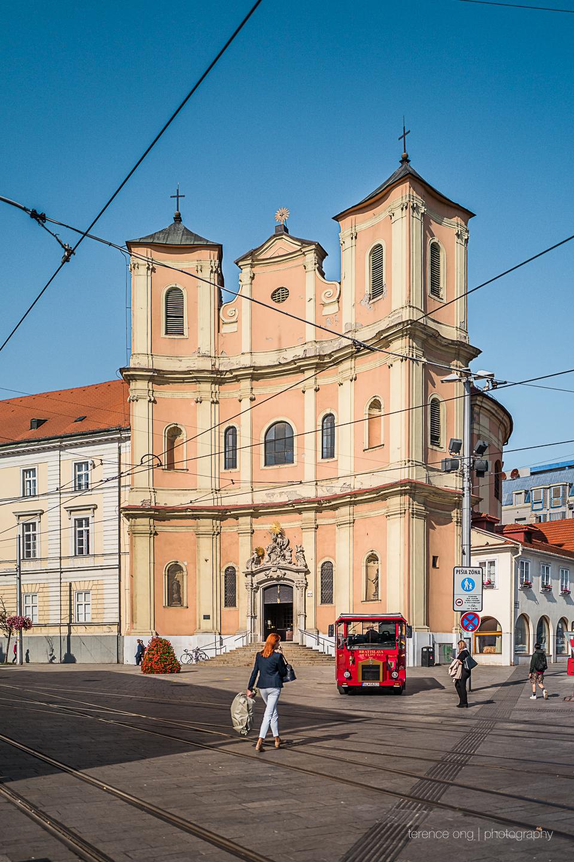 Kostol sv. Jána z Mathy church in the city of Bratislava, Slovakia