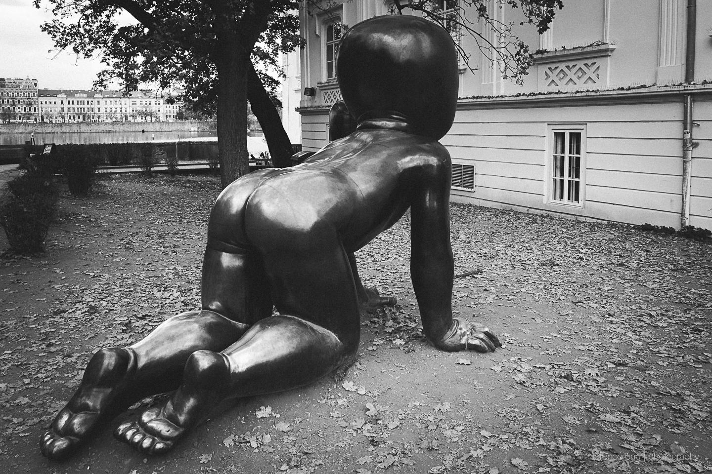 Sculpture at the Kampa Park in Prague, Czech Republic