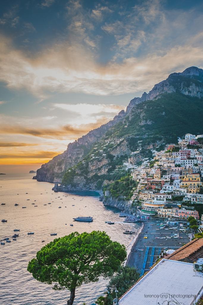 The view of Positano